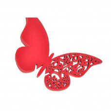 Lote de 12 mariposas de papel Rojas