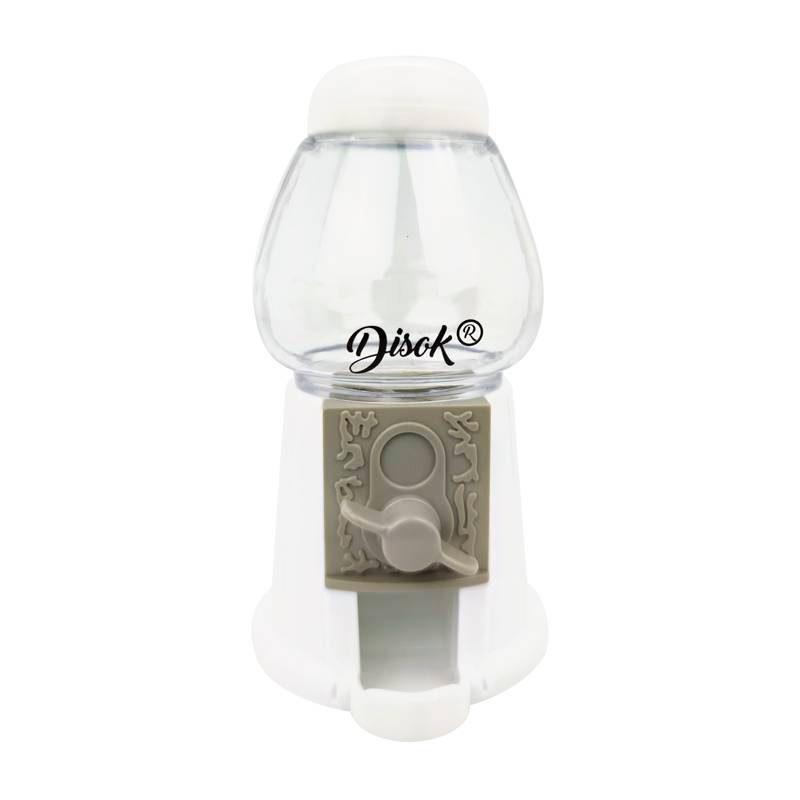 Ultimos regalos para invitados añadidos maquina de chicles vacia blanca