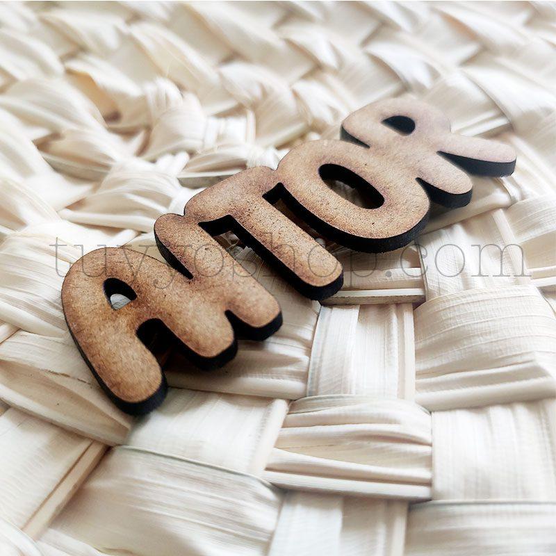 Nombres marcasitios en madera para boda, 3mm, personalizables, informal marcasitio para boda modelo informal5