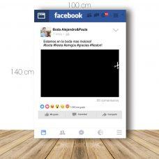 Marco de facebook para boda. 100x140cm. Personalizable