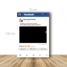 Marco facebook para boda 70x100