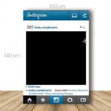 Marco de instagram para boda. 100x140cm. Personalizable