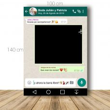 Marco de Whatsapp para boda. 100x140cm. Personalizable