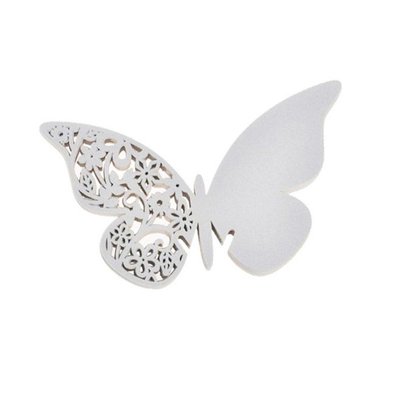 Lote 12 mariposas de papel Plata