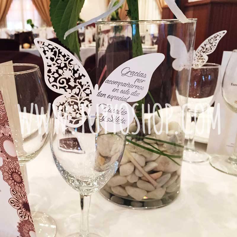 Lote 50 mariposas de papel mariposas de papel para bodas1