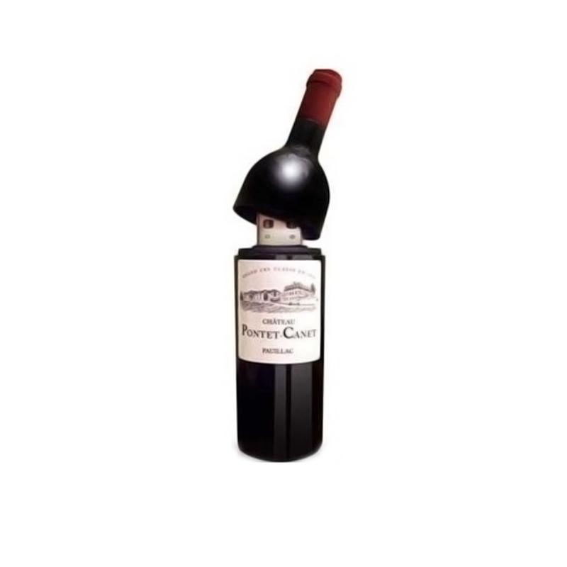 Memoria usb para boda. Botella de vino. 1gb