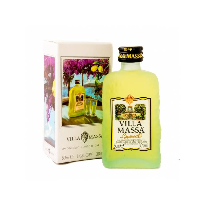 Mini botella limoncello Villa Massa, 5cl.