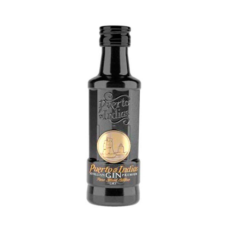 Mini botella ginebra Puerto de Indias Black mini botella ginebra puerto de indias black