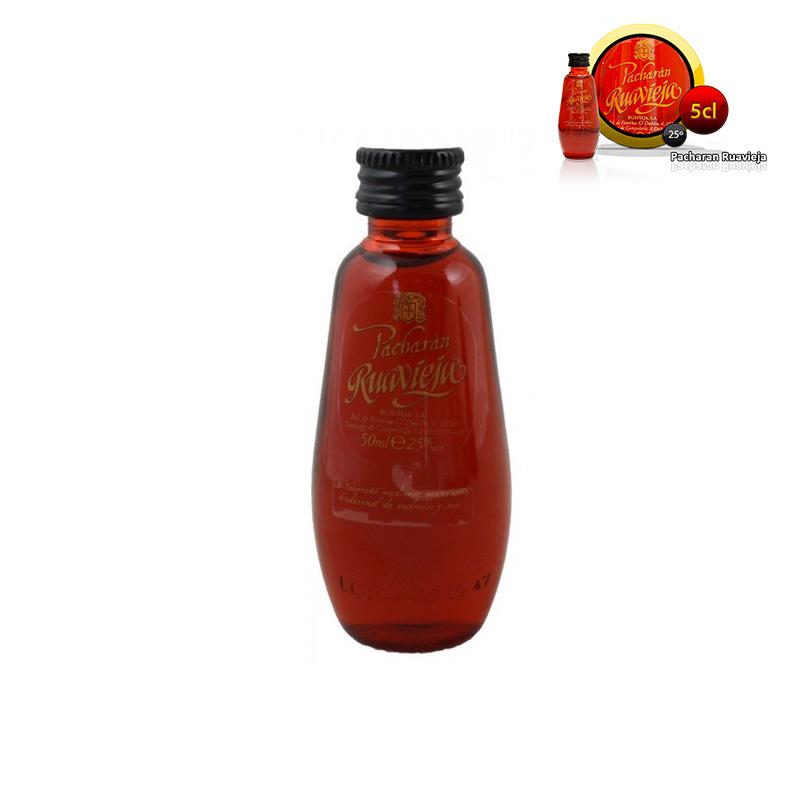 Mini botella para boda pacharán ruavieja