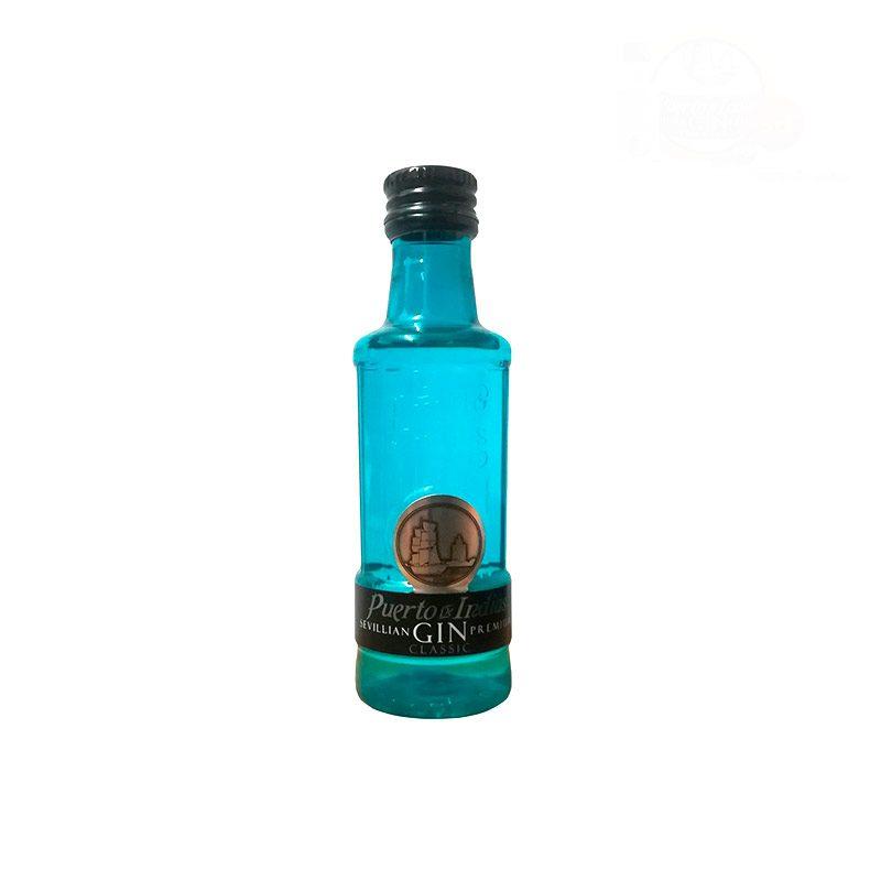 Mini botella ginebra Puerto de Indias Clásica