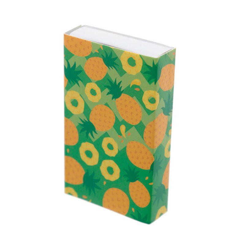 Mini limas de uñas en caja de cerillas Tropical. Detalles de boda.
