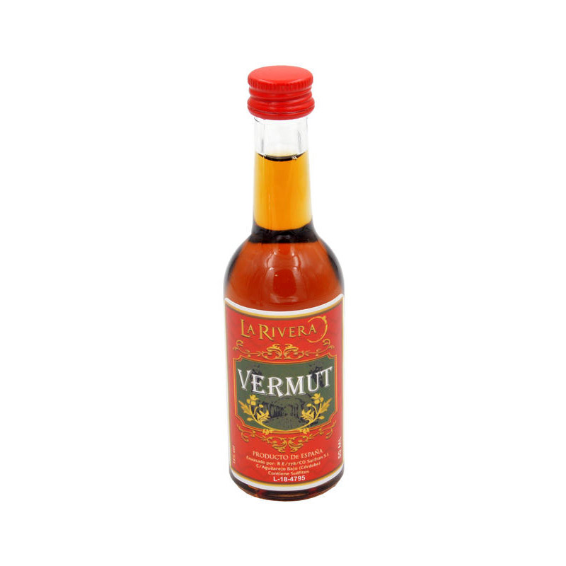 Botellita de licor vermut para boda. 50ml