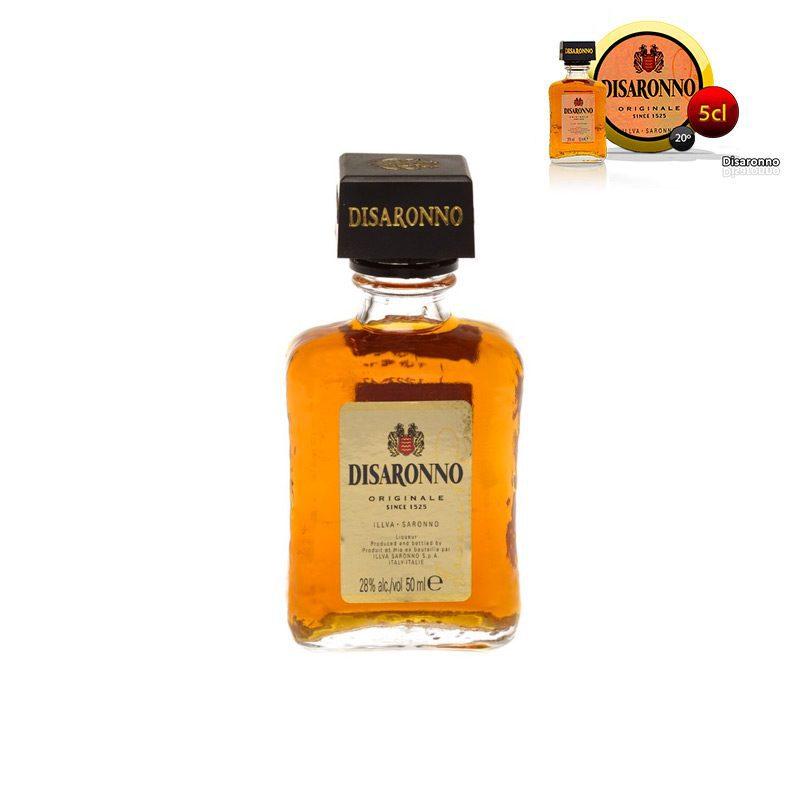 Mini botella para boda Disaronno