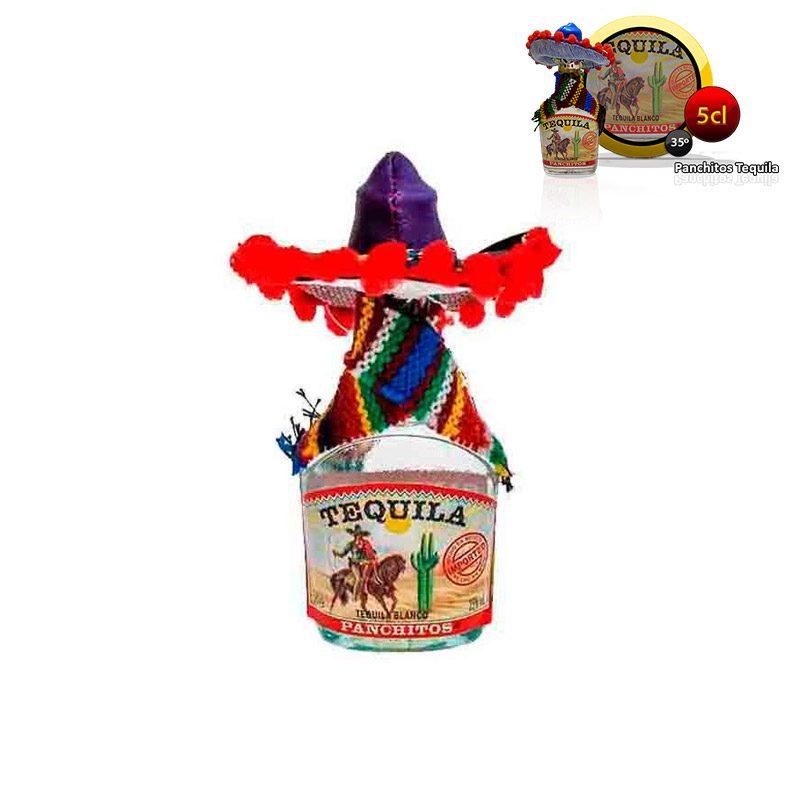 Mini botella para boda, tequila blanco panchito.