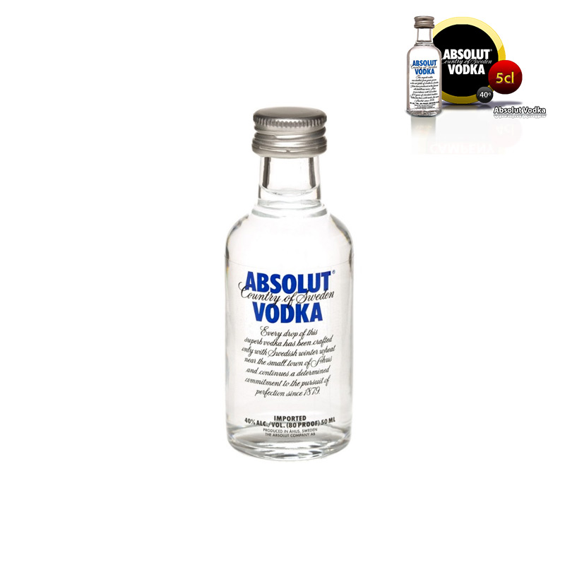 Mini botella para boda Absolut