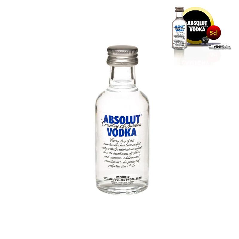 Mini botella para boda Absolut