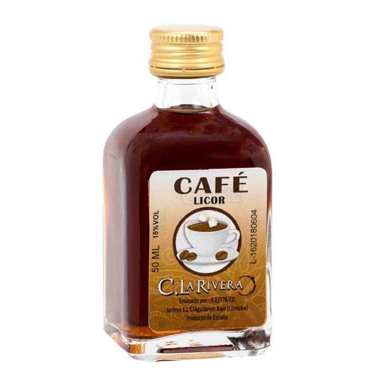 Licor en frasca de cristal. Sabor Café. La Rivera. 50ml.