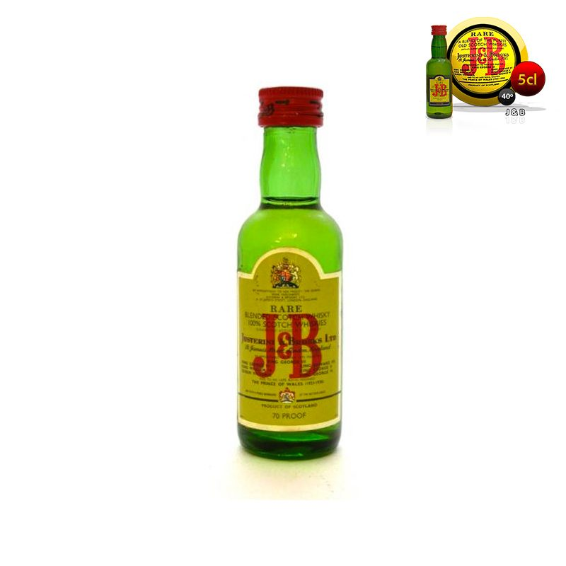 Mini botella para boda J&B