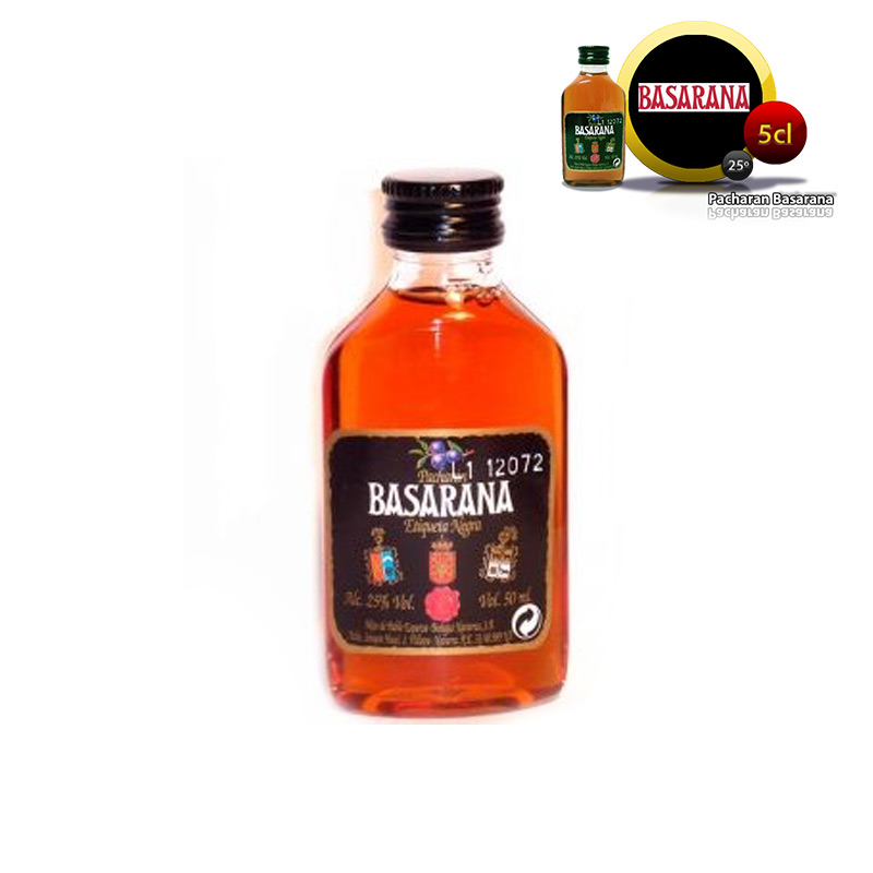 Mini botella Pacharán Basarana, 5cl