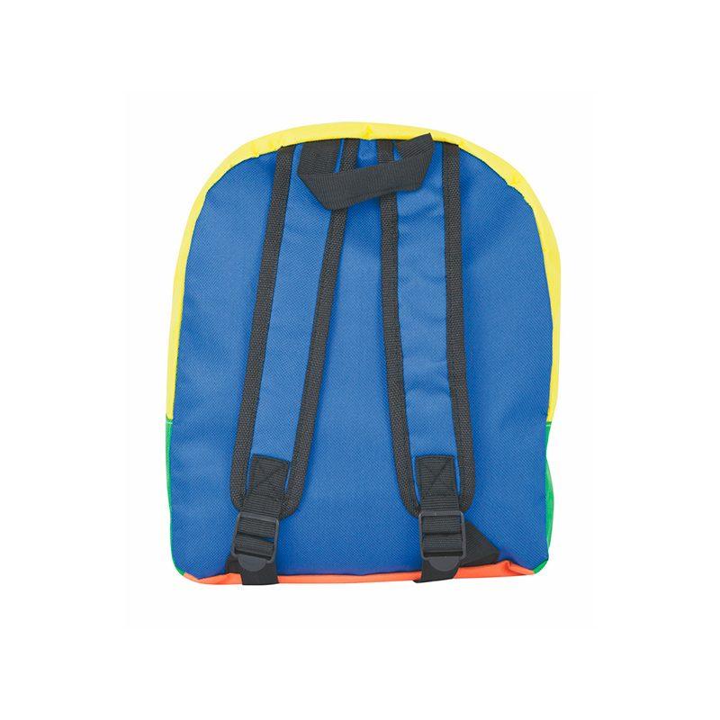 Divertida mochila infantil con asas. Modelo Happy Day. 29 x 9.5 x 30 cm