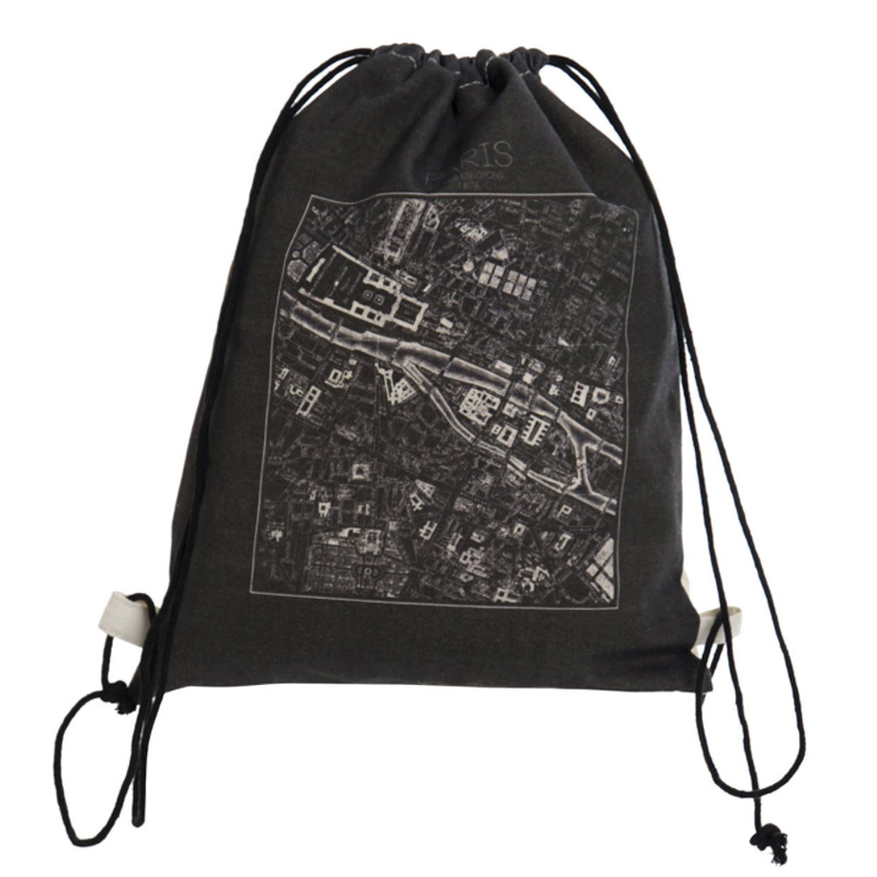 Mochila poliester con cuerda. Modelo City. 6 diseños. 28x36 mochila mapa ciudades 3
