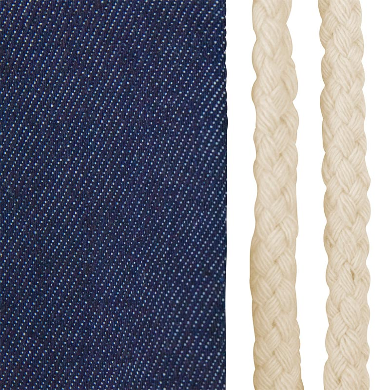 Mochila de cuerdas modelo Denim. 34x42cm mochila para regalar denin detalle
