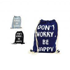 Mochila saco Dont Worry be Happy