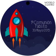Etiqueta comunion cohete