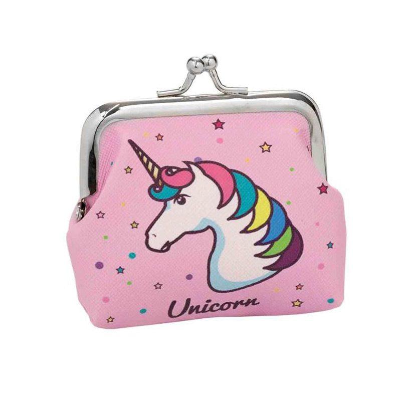 Monedero para regalo de comunión. Modelo unicornio.