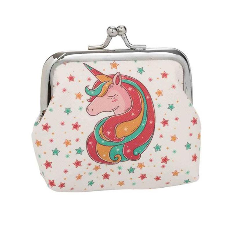 Monedero para regalo de comunión. Modelo estrellas y unicornio.
