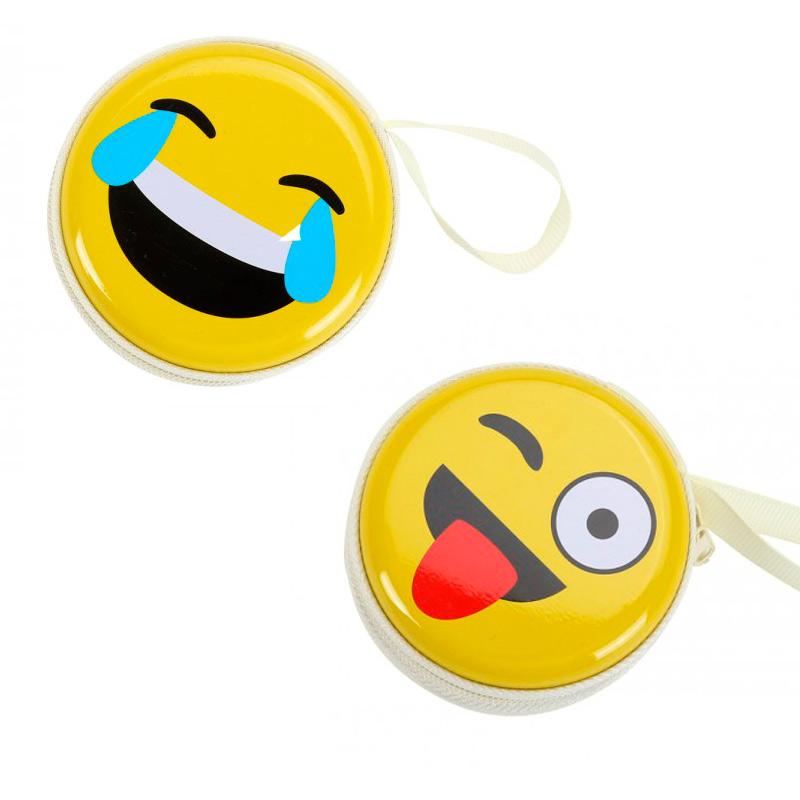 Monedero metálico emoticonos