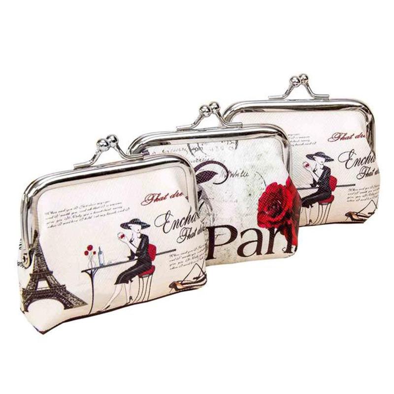 Regalo original para mujeres. Monedero clásico Paris. 2 modelos. 8x6,5cm