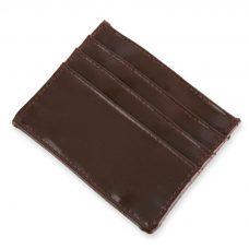 Monedero tarjetero para boda. Color marrón.