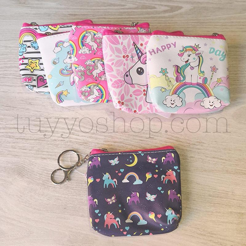Monedero para regalar. Modelo Happy Unicornio. 6 modelos. 12x11cm monederos para regalo happy unicornio 2