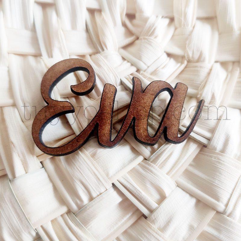 Nombres marcasitios en madera para boda, personalizables, clásico nombres marcasitios para boda clasico 3