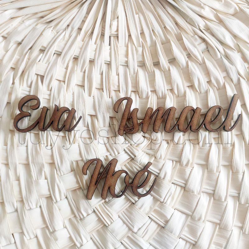Nombres marcasitios en madera para boda, personalizables, clásico nombres marcasitios para boda