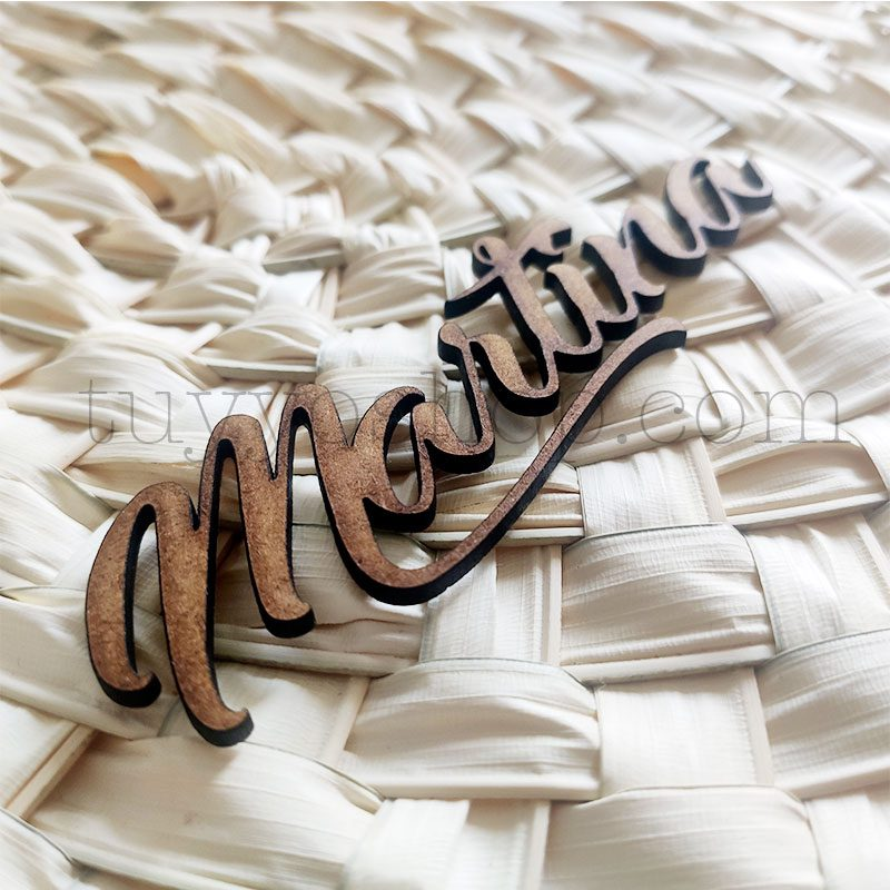 Nombres marcasitios en madera para boda, 3mm, personalizables, elegant nombres personalizados madera boda elegant 3