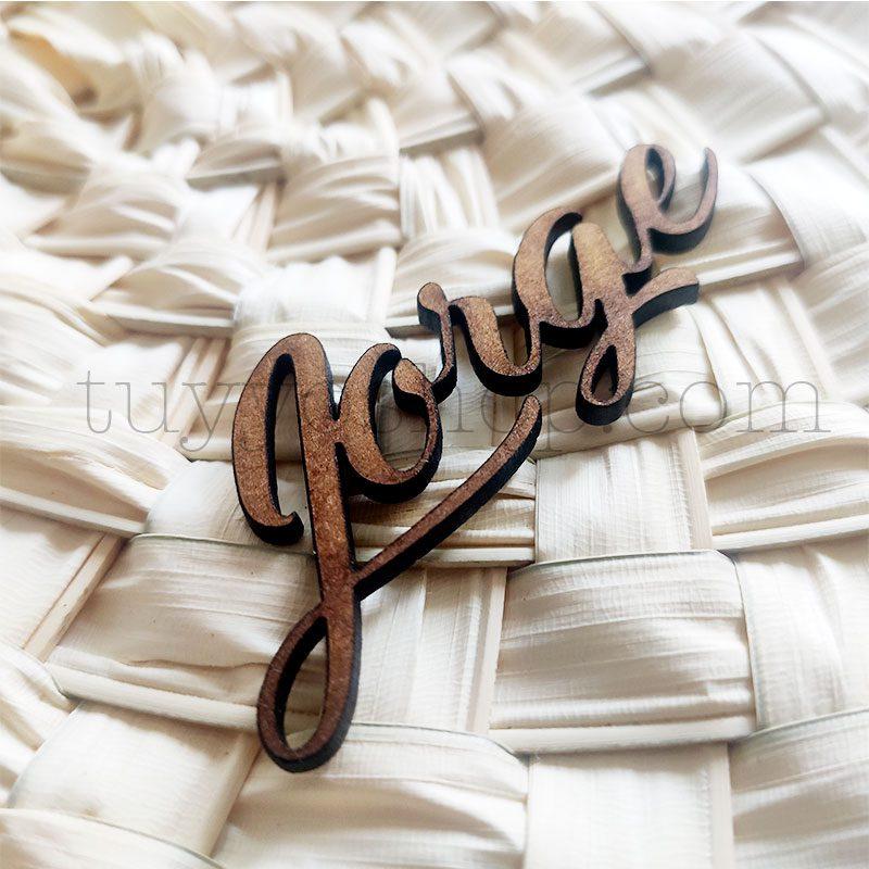 Nombres marcasitios en madera para boda, 3mm, personalizables, elegant nombres personalizados madera boda elegant 6
