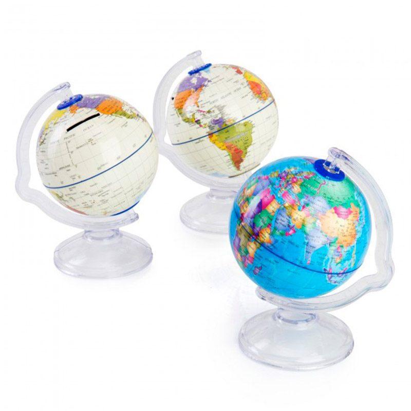 Nueva hucha para niños. Bola del mundo. Regalos on-line