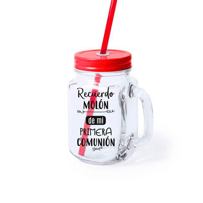 Ultimos regalos para invitados añadidos nueva jarra con pajita recuerdo muy molon 3 colores rojo