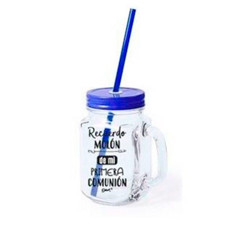 Ultimos regalos para invitados añadidos nueva jarra con pajita recuerdo muy molon azul