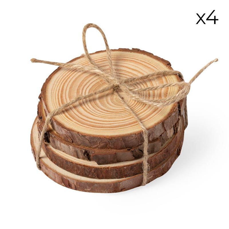 Ultimos regalos para invitados añadidos pack 4 posavasos madera natural2