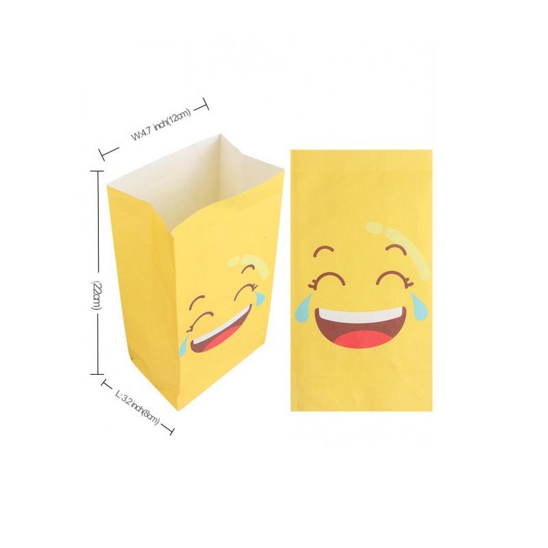Pack de 12 bolsas para regalo. Emoticonos. Incluye pegatina.