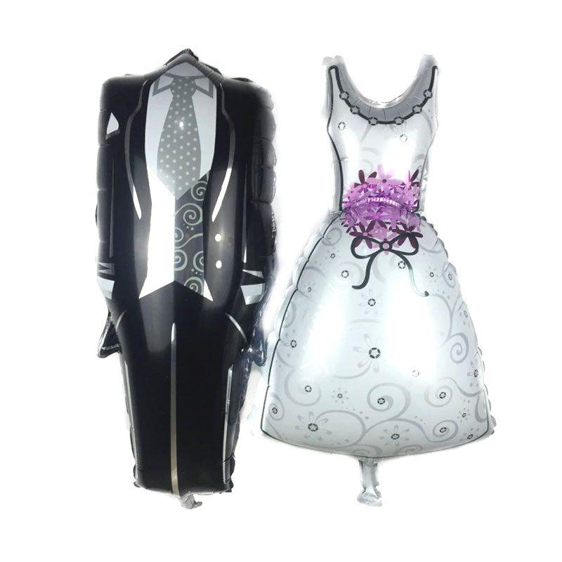 Pack 2 globos metalizados, pareja de novios. 70x40cm pack globos metalizados para boda