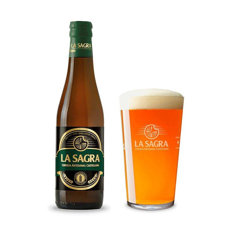 Cerveza para bodas. La Sagra. Blanca premium. 33cl. En pack de 24 pack la sagra premium blond ale