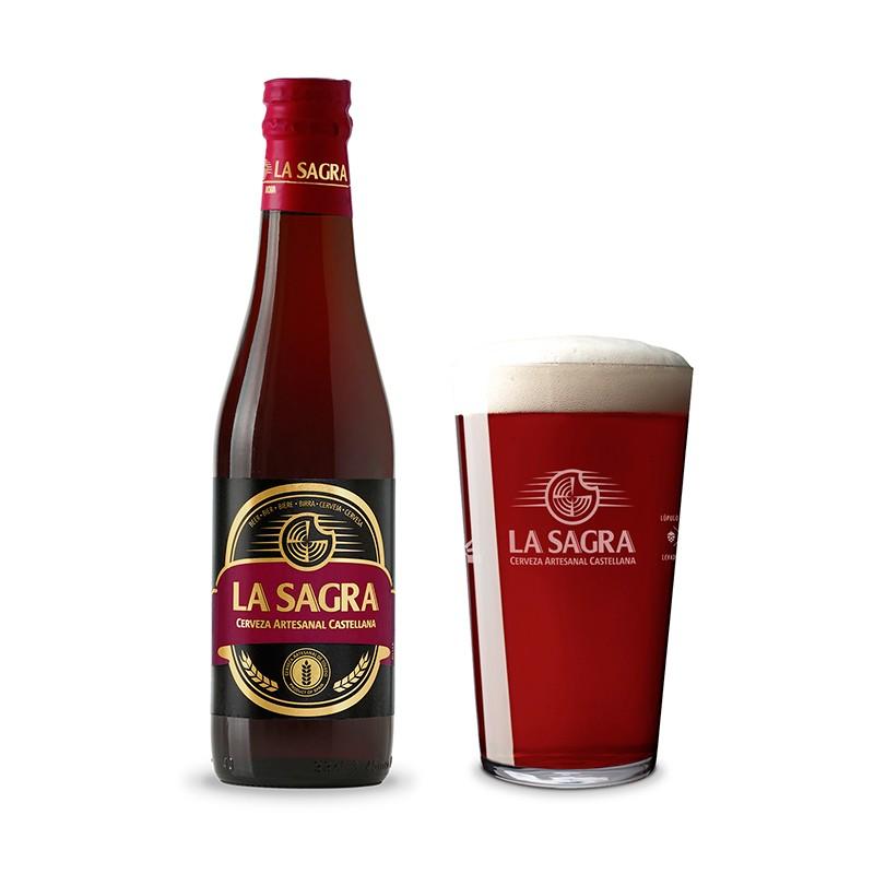 Cerveza para bodas. La Sabra. Roja. 33cl. En pack de 12
