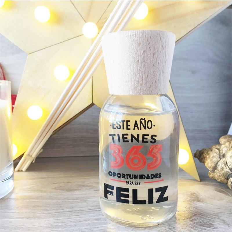 Pack regalo de Navidad con vela y mikado Oportunidades para ser Feliz pack regalo de navidad con vela y mikado buenos propositos navidad