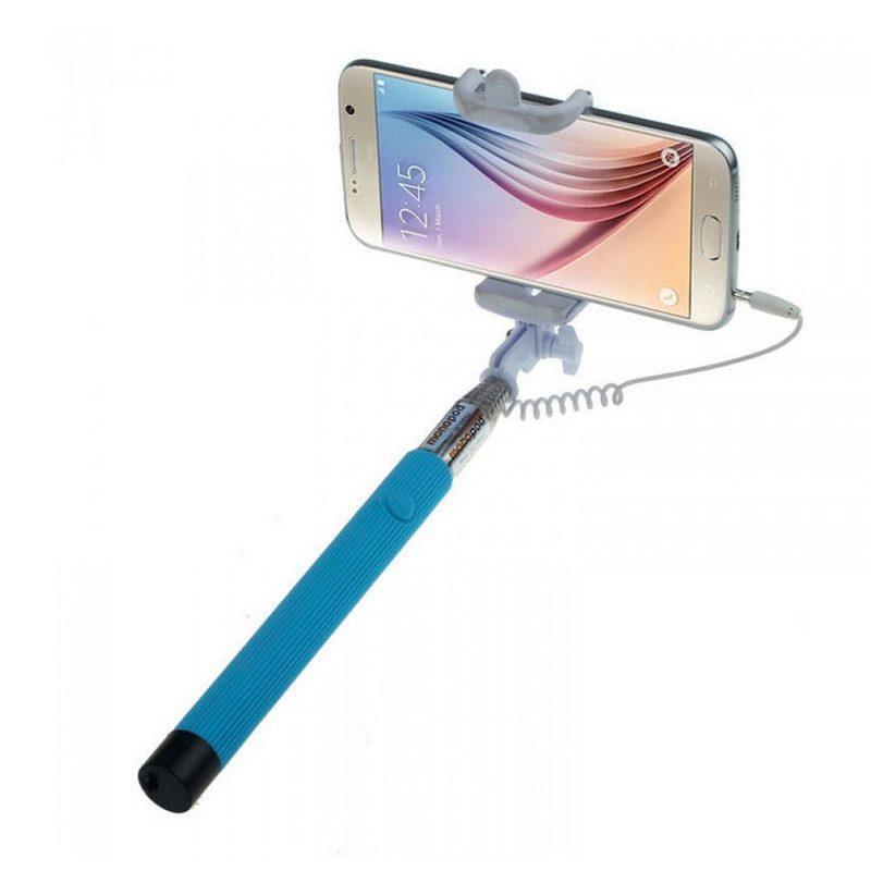 palo de selfie en color azul