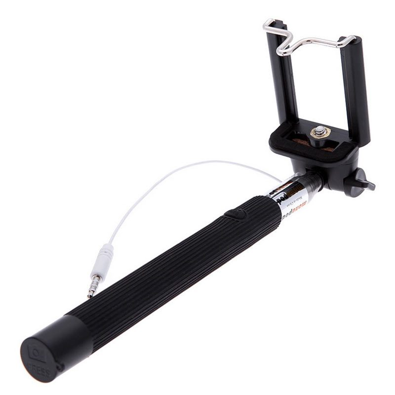palo de selfie en color negro