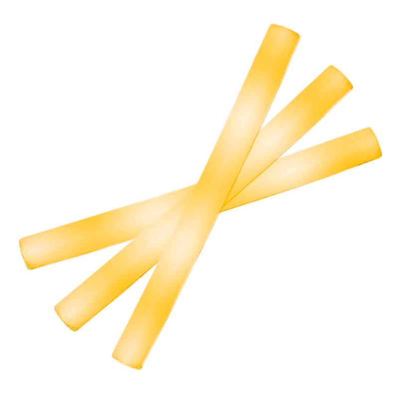 Palo de espuma Led. Especial para eventos. 47cm. Pilas incluidas. Color amarillo palos luminosos led color amarillo